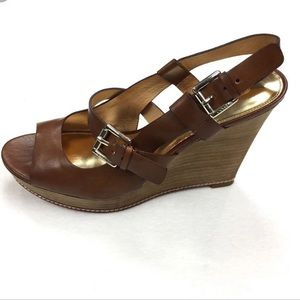 Coach Shoes - Coach 'Mary Jo' Wedge Heels in Brown